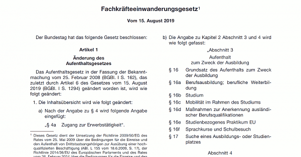 Fachkräfteeinwanderungsgesetz in Deutschland - Новий Закон про імміграцію спеціалістів - Новый Закон об иммиграции специалистов в Германии